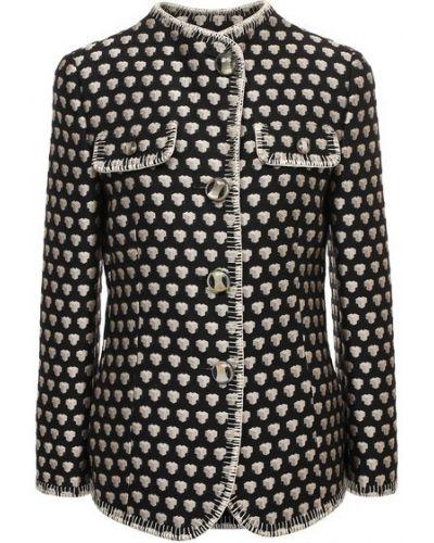 Шелковый бежевый пиджак с подкладкой Giorgio Armani