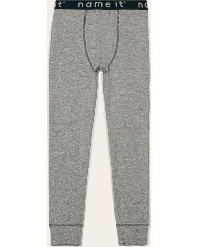 Брюки на резинке пижамные серые Name It