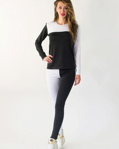 Спортивный костюм белый черный Подіум