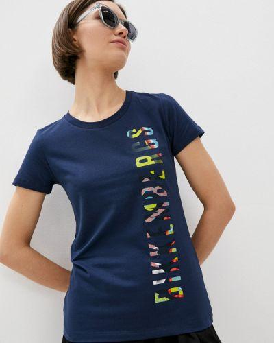 Синяя футболка с короткими рукавами Bikkembergs