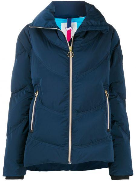 Синяя стеганая длинная куртка с длинными рукавами Rossignol