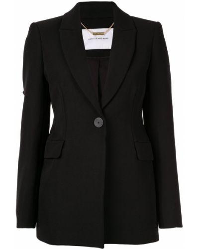 Прямая черная длинная куртка Camilla And Marc