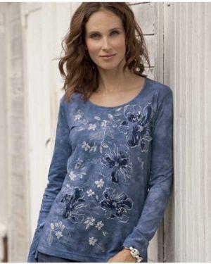 Блузка с длинным рукавом с цветочным принтом прямая Atlas For Men