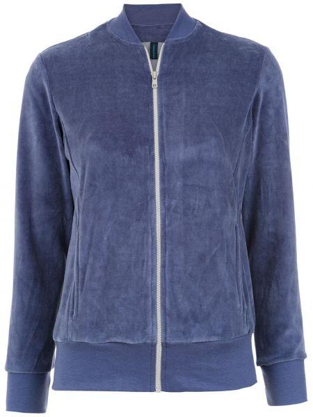Плюшевая синяя длинная куртка с воротником Lygia & Nanny