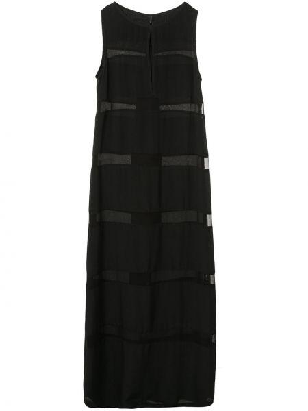 Шелковое платье миди - черное Taylor
