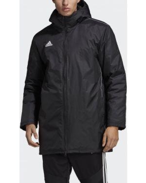 Куртка с капюшоном утепленная черная Adidas