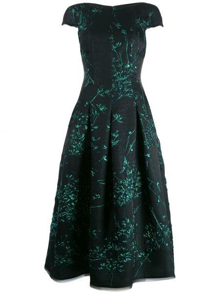 Платье мини миди зеленый Talbot Runhof