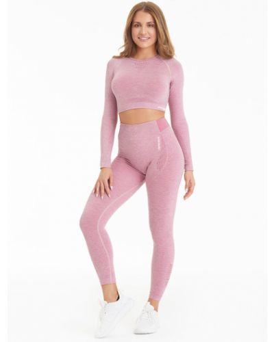 Розовые брюки на резинке с поясом с открытым носком Gym Hero