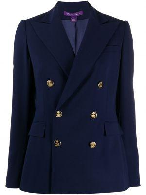 Синяя куртка с манжетами на пуговицах с карманами Ralph Lauren Collection