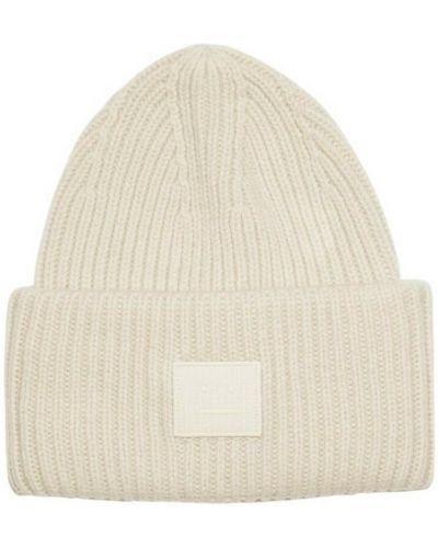 Beżowa czapka beanie Acne Studios