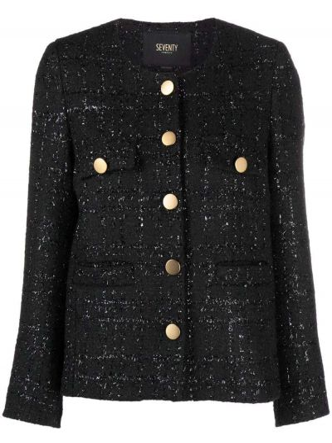 Длинная куртка - черная Seventy