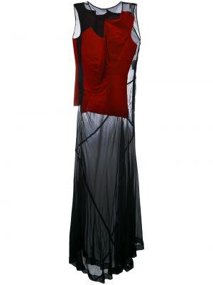 Асимметричное черное платье прозрачное винтажное Comme Des Garçons Pre-owned