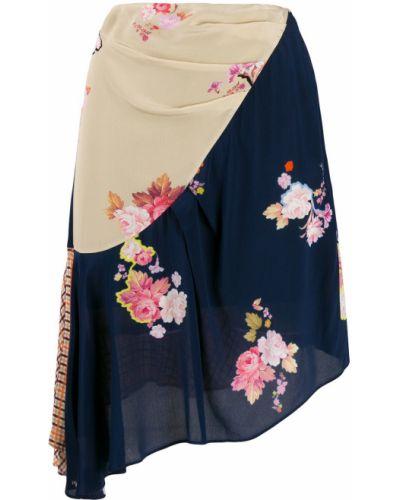 Асимметричная плиссированная юбка Preen Line