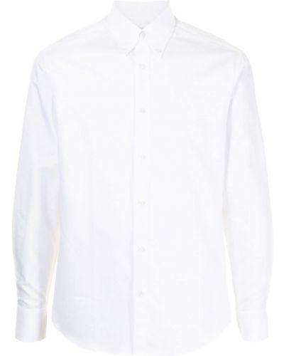 Biała biała koszula bawełniana Dunhill