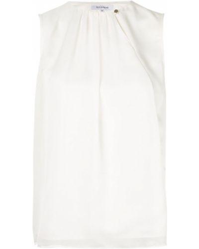 Блузка без рукавов белая на пуговицах Guild Prime