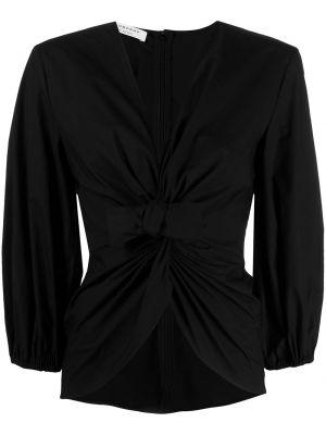 С рукавами черная блузка с V-образным вырезом Philosophy Di Lorenzo Serafini
