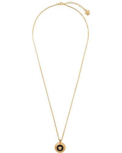 Ожерелье черный золотой Versace