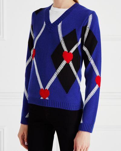 Пуловер свободного кроя в клетку Msgm