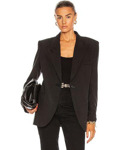 Черный пиджак с карманами жаккардовый Smythe
