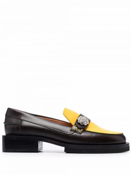 Loafers na obcasie - czarne Ganni