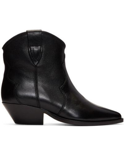 Сапоги на высоком каблуке черные на каблуке Isabel Marant