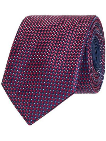 Klasyczny różowy krawat z jedwabiu Christian Berg Men