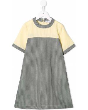 Текстильное платье с рукавами Owa Yurika