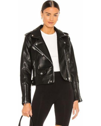 Черная кожаная куртка на молнии [blanknyc]