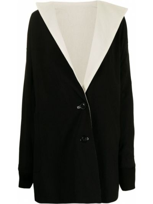 Белое шерстяное пальто Y's