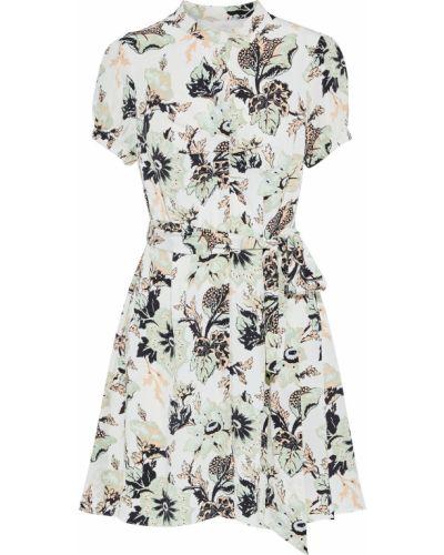 Шелковое платье мини - бежевое Diane Von Furstenberg