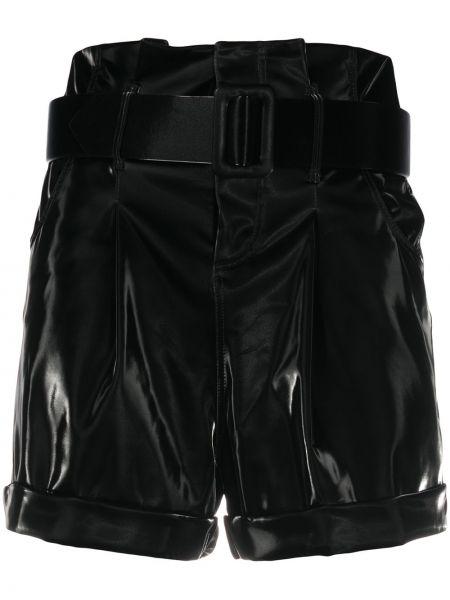Черные с завышенной талией шорты с поясом Federica Tosi