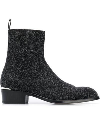 Ботильоны кожаный для обуви Alexander Mcqueen