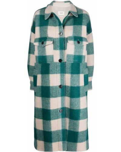 Зеленое акриловое пальто Isabel Marant étoile