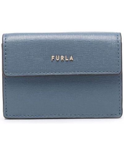 Кожаный кошелек - синий Furla
