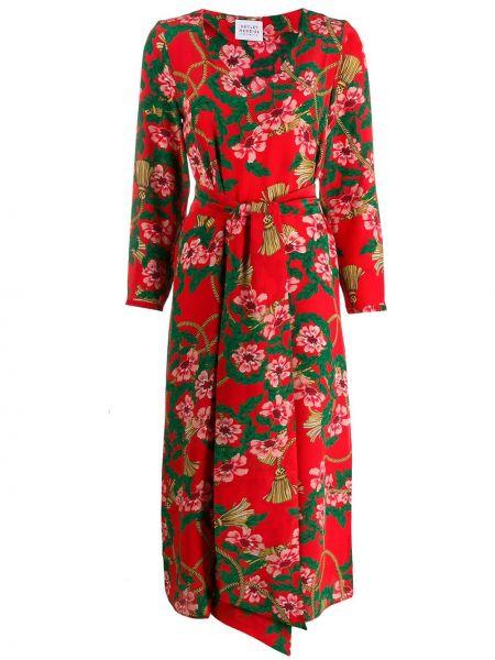 Платье миди с запахом с разрезами по бокам на молнии Hayley Menzies