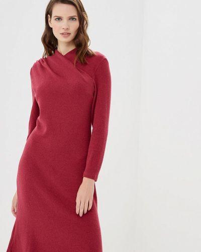 Платье бордовый вязаное Арт-Деко