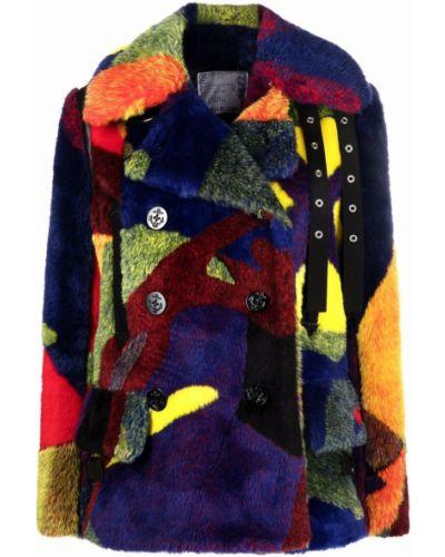 Шерстяное пальто Sacai