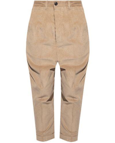 Beżowe spodnie sztruksowe Ami Paris