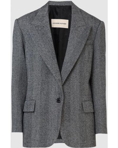 Серый шерстяной пиджак Alexandre Vauthier