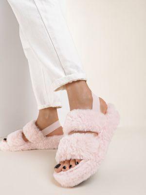 Różowe kapcie materiałowe Renee