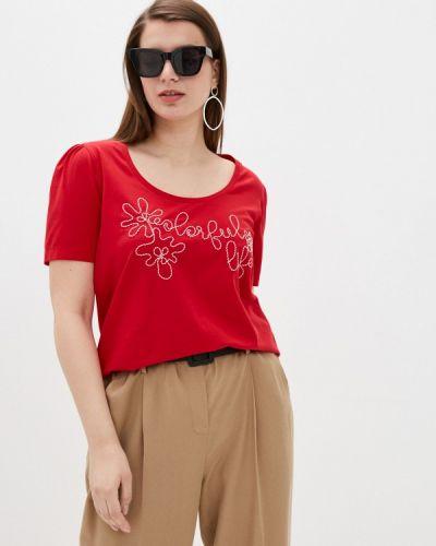 Красная футболка с короткими рукавами Persona By Marina Rinaldi