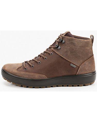Коричневые зимние ботинки Ecco