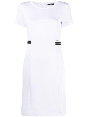 Прямое с рукавами белое платье мини Liu Jo