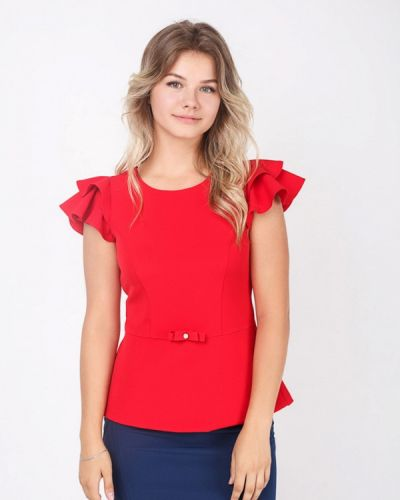 Красная блузка Zubrytskaya