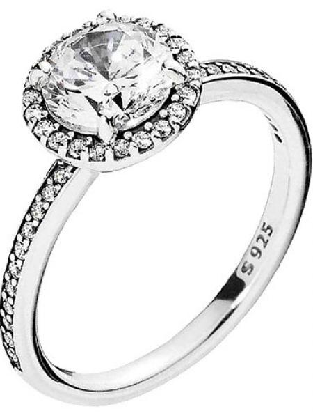 Кольцо из серебра классический Pandora