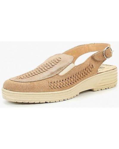 Туфли на каблуке с открытой пяткой замшевые Shoiberg