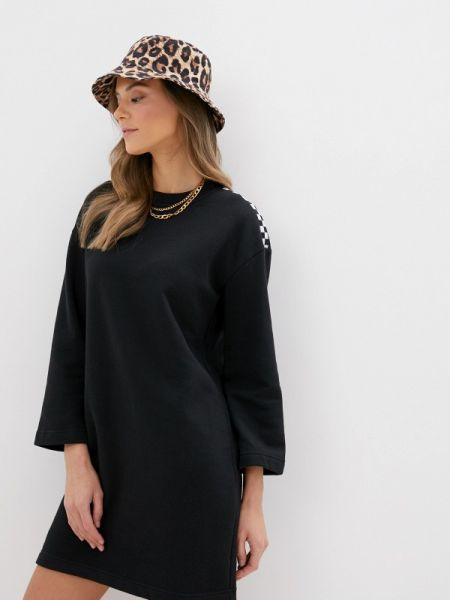 Платье платье-толстовка черное Vans
