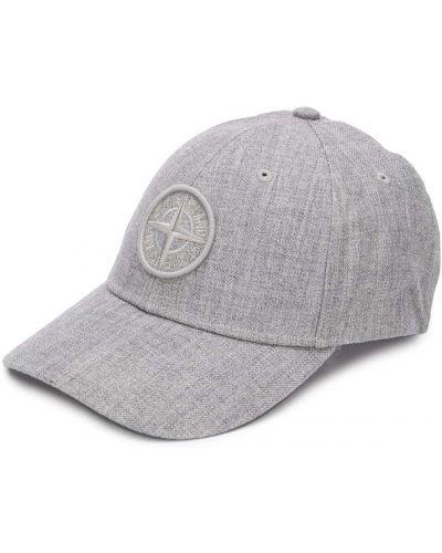 Światło bawełna wełniany czapka z łatami Stone Island