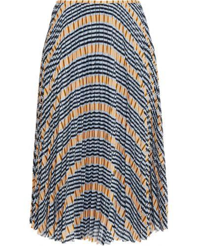 Синяя плиссированная юбка миди на крючках SamsØe Φ SamsØe