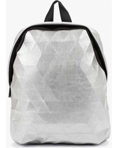 Серебряный рюкзак из искусственной кожи Vitacci